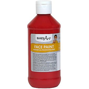 Handy Art Face Paint 8oz-Red 556-20