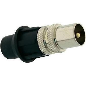 IEC-CONNECTOR MALE, METALLIC INCL. CAP