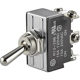 Toggle switch 250 Vac 10 A 2 x On/On SCI R13-28B-0