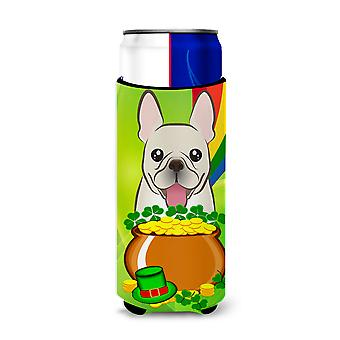French Bulldog St. Patrick's Day Michelob Ultra Koozies for slim cans BB1982MUK