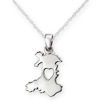 From The Heart Of Wales Silver Pendant