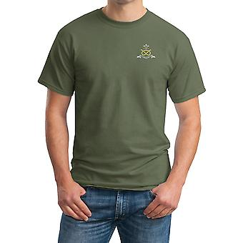 The North Staffordshire Regiment Embroidered Logo - Official Cotton T Shirt
