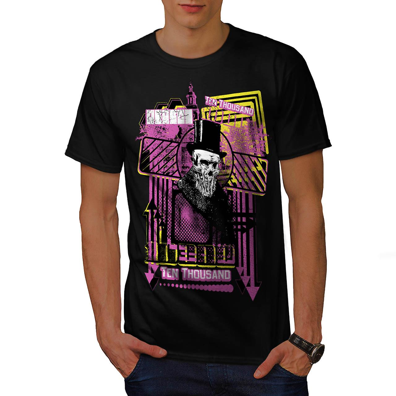 Reason For Death Gent Haunted Men Black T-shirt | Wellcoda