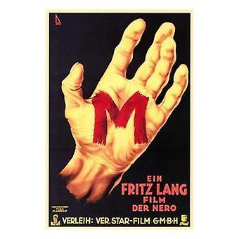 Locandina del film M (11 x 17)