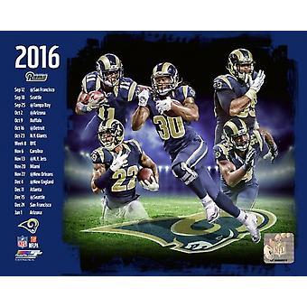 Los Angeles Rams 2016 Team sammensat Photo Print