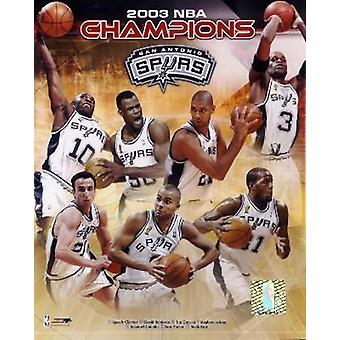 San Antonio Spurs 2003 NBA Championship Composite Photo Print
