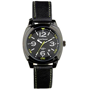 Bruno Banani watch wristwatch of Ketos leather analog BR30018