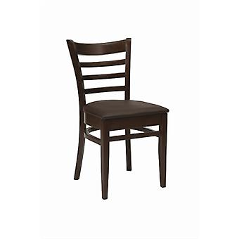 Pair Of Fully Assembled Steven Walnut Chair With Seat Pad
