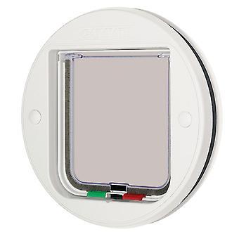 Cirkulær glas montering kat Flap hvid 22.3cm Diameter