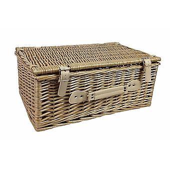 45cm Antique Wash Picnic Basket