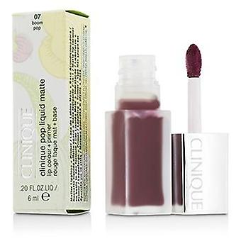 Clinique Pop Liquid Matte Lip Colour + Primer - # 07 Boom Pop - 6ml/0.2oz