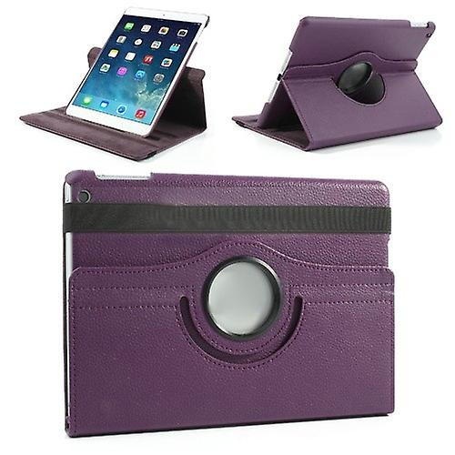 Cover art leather 360 degree bag purple for Apple iPad air 2 2014