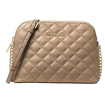 Michael Kors Cindy Large Dome Crossbody Quilted Costa Lamb 18K - Bisque - 32T6GCPC7L-097