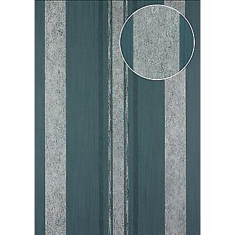 Stripes Atlas 24C-5059-3 non-woven wallpaper silver smooth with graphic patterns, and metallic accents blue granite grey blue-eyed 7,035 m2