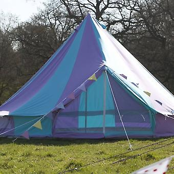 Boutique Camping 4m Harlequin Bell Tent With Zipped In Ground Sheet