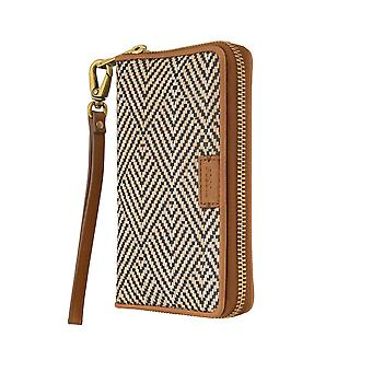 FOSSIL ladies purse wallet Bifold wallet purse smart Phon with RFID-chip protection Brown 6271