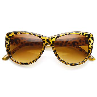 Womens Oversized Metal and Plastic Frame Cateye Sunglasses