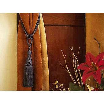 Pair - Dark Gray Decorative handmade Tiebacks / Tassel / Curtain Holdback