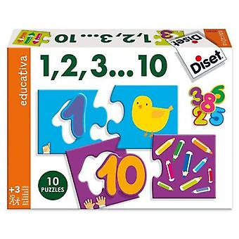 Diset Count to 10 (Toys , Boardgames , Puzzles)