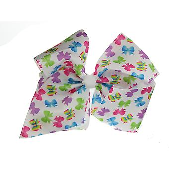 Girls Boutique Large Bow Printed Fashion Hair Bow Dance School Accessory