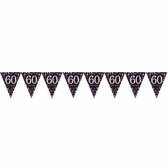 Amscan Sparkling Celebration 60th Birthday Decorative Bunting