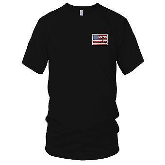 Esercito degli Stati Uniti - ODA 9235 19a SFG unita sulla manica sinistra ricamato Patch - gancio e anello di Mens T-Shirt