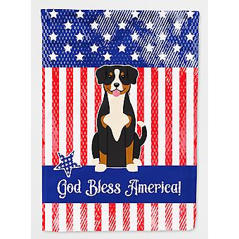 Carolines Treasures  BB3033CHF Patriotic USA Entlebucher Flag Canvas House Size