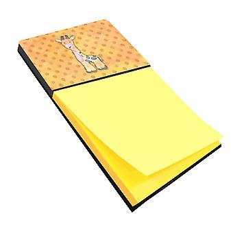 Carolines tesori BB7373SN Polkadot Griaffe acquerello Sticky Note titolare