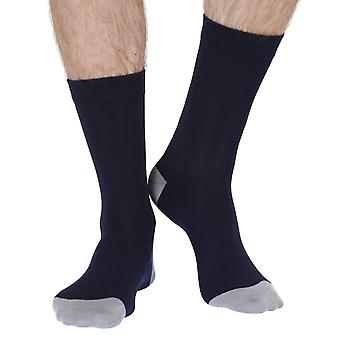 No Fuss men's luxury soft bamboo crew socks in navy | By Brave & Free
