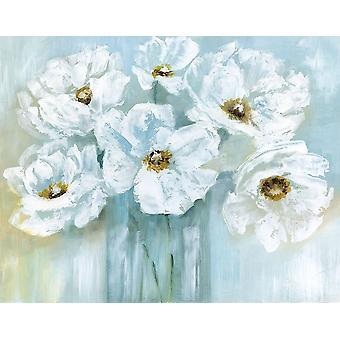Weißen Mohn Bouquet Poster Print von Nan
