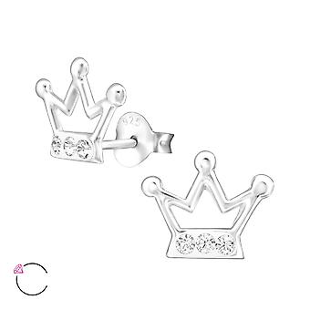 Crown crystal from Swarovski® - 925 Sterling Silver Children's Ear Studs