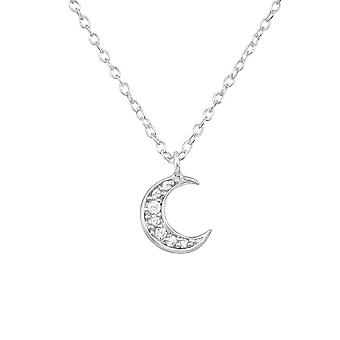 Moon - 925 Sterling Silver Jewelled Necklaces