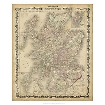 Johnsons Map of Scotland Poster Print by Scott Johnson (22 x 26)