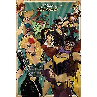 DC Comics Bombshells cartel Poster Print