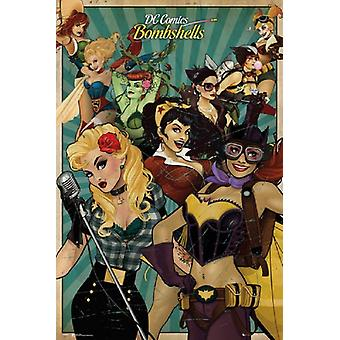 DC Comics Bombshells Poster Poster Print