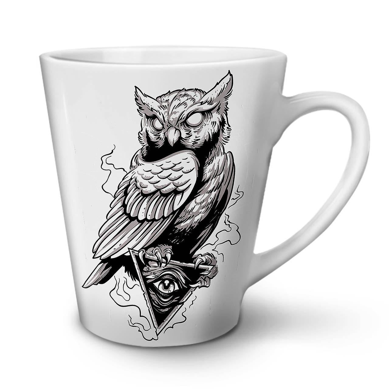 Ceramic Triangle New Coffee White Owl Tea Latte 12 Mug OzWellcoda 1cTJlFuK3