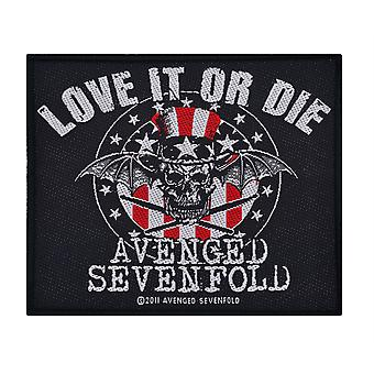 Avenged Sevenfold Love It Or Die remiendo tejido