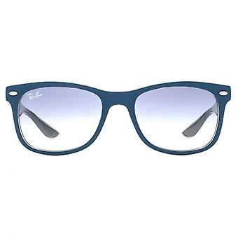 Ray-Ban Junior Wayfarer Sunglasses In Matte Turquoise On Grey