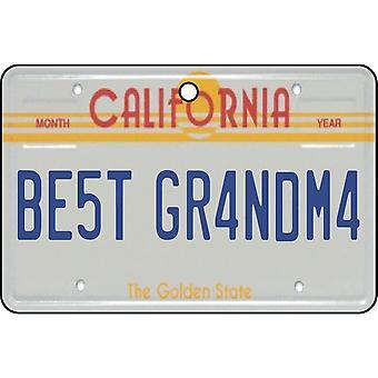 California - Best Grandma License Plate Car Air Freshener