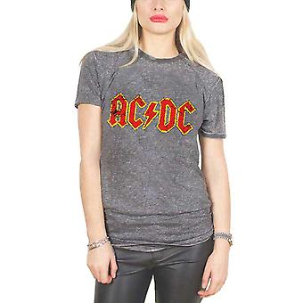 AC/DC T Shirt Band Logo rock or bust burnout new Official Unisex Grey slim fit