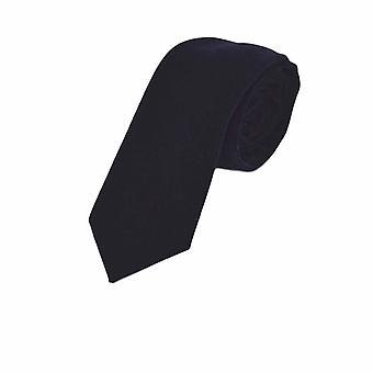 Lyx sammet marinblå slips
