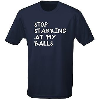Stop Starring At My Balls Tennis Mens T-Shirt 10 Colours (S-3XL) by swagwear
