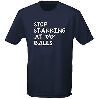Protagonizada por en mis pelotas de tenis para hombre camiseta 10 colores (S-3XL) una parada en swagwear