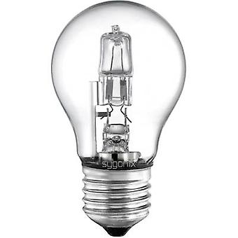 Eco halogen 94 mm Sygonix 230 V E27 42 W Warm white EEC: C Pear shape dimmable 1 pc(s)