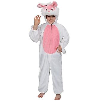 White Bunny Rabbit Childrens Easter Fancy Dress Costume One Piece