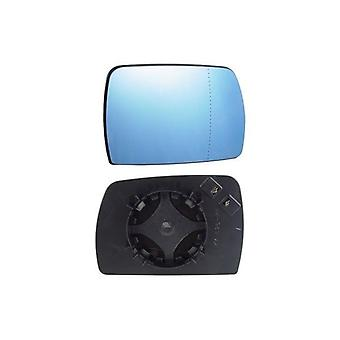 Right Blue Mirror Glass (heated) & Holder for BMW X3 2004-2008