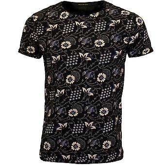 Scotch & Soda Allover Floral Print Crew-Neck T-Shirt, Marine