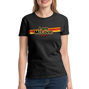 Super dårlig jeg er McLovin kvinder sort T-shirt