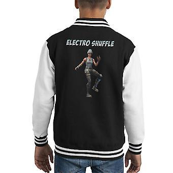 Fortnite Emotes Electro Shuffle Kid Varsity Jacket