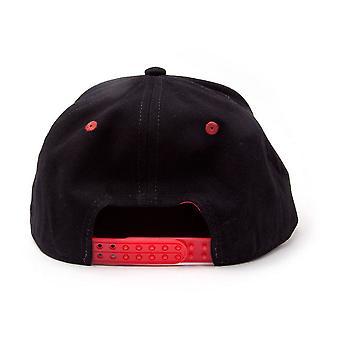 BioWorld Deus de guerra 3D bordado logotipo Snapback Baseball Cap preto/vermelho tamanho